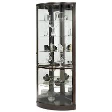 decoration black glass wall cabinet big glass display case glass