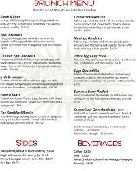 menu for brunch atlantic garden