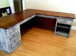 reclaimed wood l shaped desk rustic l shaped desk lovely reclaimed wood l shaped desk ideas
