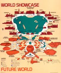 Disney World Epcot Map Maps Epcot Center 1989 Progress City U S A