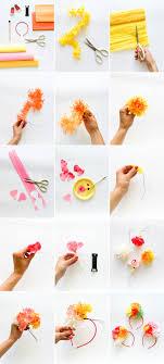 flower headbands diy paper flower headband diy