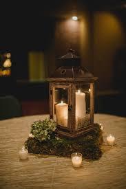 lantern centerpiece wooden lantern centerpiece with moss stand