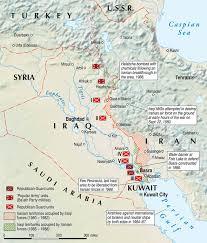 map iran iraq new borders enemies the iran iraq war