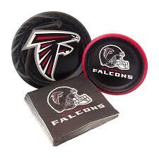amazon com atlanta falcons football party supply pack bundle