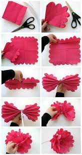 Making Of Flowers With Paper - diy how to make a flower out of paper napkin napkins flower and
