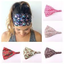 headband elastic wide headband elastic bandana turban hair band ebay