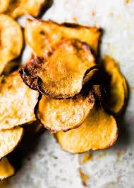 easy bbq baked rutabaga chips