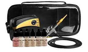 professional airbrush makeup machine glam air airbrush makeup machine system with 5