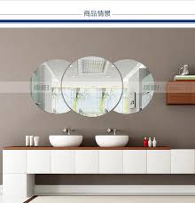 Round Bathroom Mirror by Aliexpress Com Buy Three Dimensional Crystal Wall Stickers