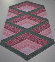 sage green table runner quilted table runner country chic shabby table runner pink and