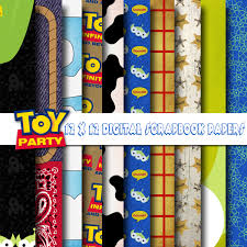 disney toy story inspired 12x12 digital paper backgrounds