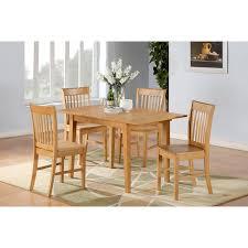 11 Piece Patio Dining Set - east west furniture nofk5 oak w 5 piece norfolk dinette kitchen