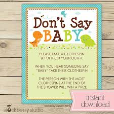 clothespin baby shower dinosaur baby shower don t say baby printable