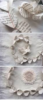 book page garland this is sweet looking to use book pages