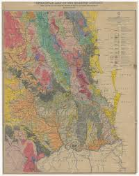 Map Of Queensland Digitised Slq Geological Map Of The Moreton District John