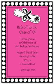 pink footlights graduation diploma invitation myexpression 16380