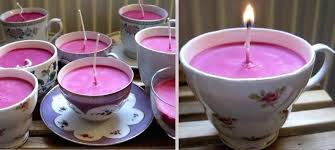 tea cup candles tea cup candles how to make teacup diy