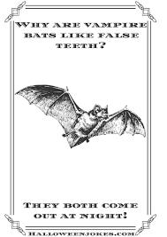 vintage looking halloween joke bat pb