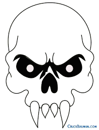 easy skull designs to draw here for large with fangs airbrushing
