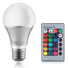 led kitchen light bulbs elrigs a19 color changing led bulb e26 base rgb 5w 40w