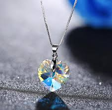 crystal heart pendant necklace images Swarovski crystal heart pendant necklace handmade simply jpg
