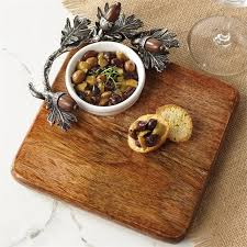 mud pie cheese board mud pie acorn cutting board and dip set hearts desire gifts