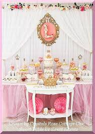 rose gold candy table dessert sweet table crown decor color choices shabby chic