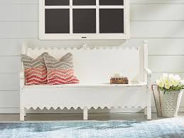scalloped bench with storage by magnolia home