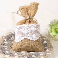 gift bags for weddings burlap linen favor gift bags for rustic vintage wedding