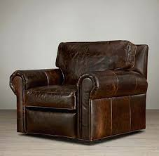 leather swivel armchair recliner chair and footstool black ottoman