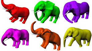 learning colors with elephants bathing for elephants color