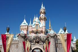 sleeping beauty castle disneyland california at christmas desktop