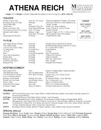 Special Skills Theatre Resume Sag Actor Acting Resume How To Format A Musical Theatre Res Peppapp