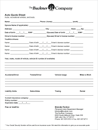 quote form pdf auto insurance quote sheet template national insurance proposal form pdf