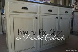 How To Paint Kitchen Cabinet How To Touch Up Chipped Paint And Maintain Painted Cabinets Hometalk