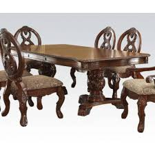 double pedestal dining room table traditional cherry wood double pedestal dining table