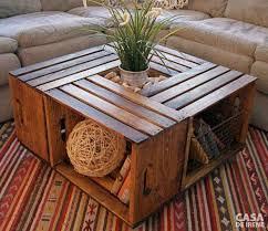 shipping crate coffee table móveis de pallets e caixotes decoração sustentável pallets
