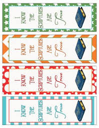 primary printables bookmarks lds primary and primary program