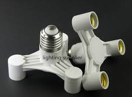 Ceiling Light Sockets E27 To 3 E14 Pendant L Base Ceiling Light Bulb Splitter Holder