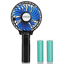 battery operated handheld fan opolar portable battery operated fan with two 2200mah