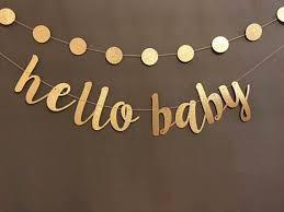 oh baby banner baby shower banner black gold baby shower