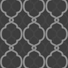 colours logan charcoal geometric metallic effect wallpaper