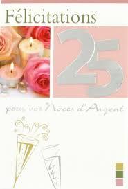 25 ans de mariage carte anniversaire de mariage bougie trouver une carte d