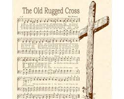 The Old Rugged Cross Hymn Rugged Etsy