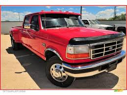 1997 vermillion red ford f350 xl crew cab dually 12048397 photo