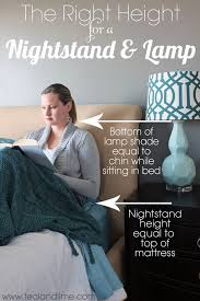 Ideas For Nightstand Height Design Best 25 Bedroom Lamps Ideas On Pinterest Bedside Table Lamps