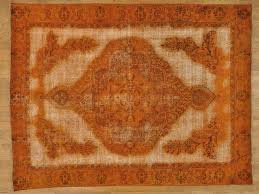 9 u0027 x 12 u0027 overdyed burnt orange worn persian tabriz handmade