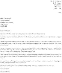 laboratory technician cover letter example icover org uk