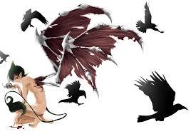 blue exorcist anime guy demon ao no exorcist blue exorcist blood skull raven