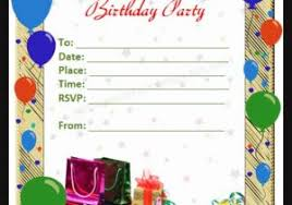 how to make a birthday invitation on word 10 ms word format